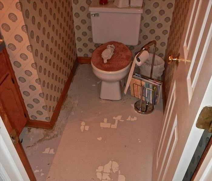 Bathroom Water Damage After
